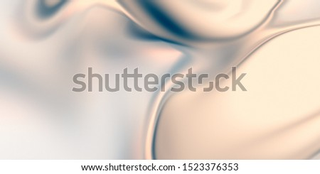 Glamour background. Smooth pearl texture. 3D rendering abstraction. Wavy fluid surface. Liquid organic shape