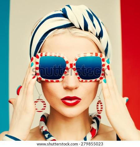 glamour model. marine style....
