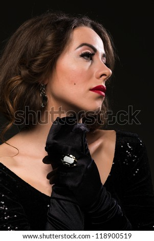 Glamour portrait of a Moldovan woman