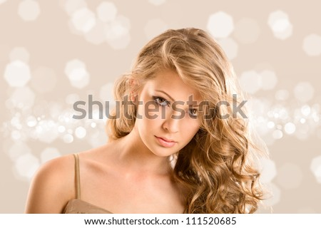 Glamour portrait of beautiful woman