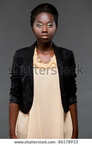 glamour portrait young black girl