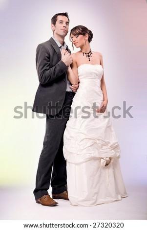 Glamour style wedding photo