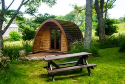 Glamping Wooden Pods in the woods