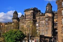 Glasgow Royal Infirmary building. Glasgow, Scotland