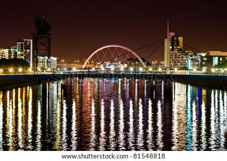 Glasgow's Arc Bridge at Night