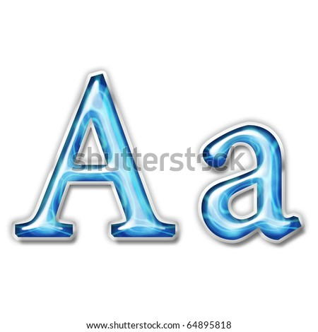 Glass alphabet symbol - stock photo