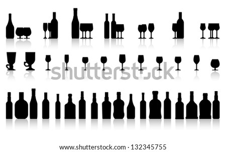 glass and bottle set