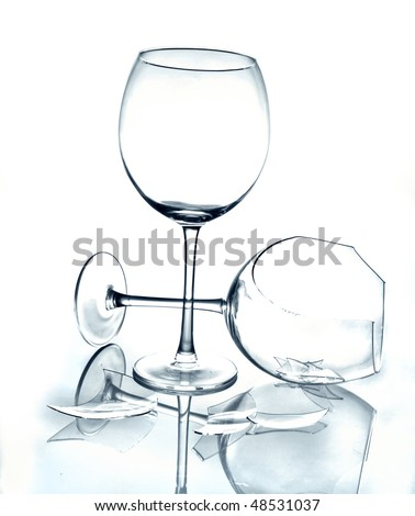 Glass and broken glass