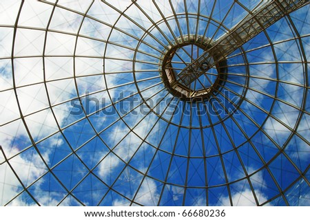 glass architecture - stock photo