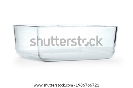 Glass baking tray on white background with clipping path Foto d'archivio ©