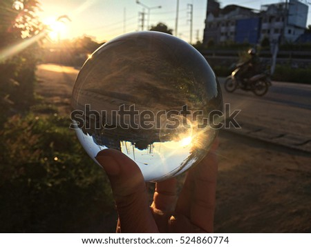 Fortune-teller with shining crystal ball Images and Stock