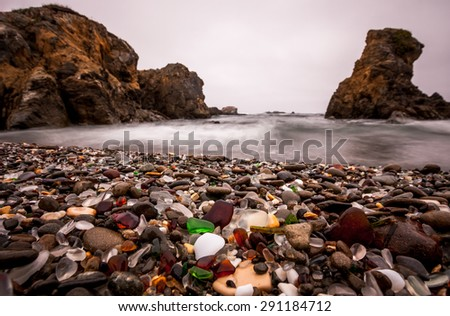 glass beach in fort bragg ...