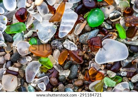 glass beach in fort bragg ...