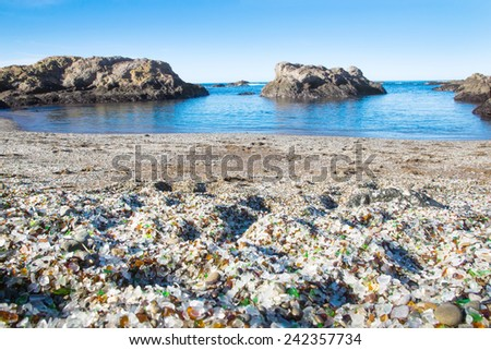 glass beach in the national...