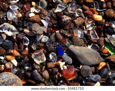 glass beach located at fort...