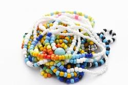 Glass Beads Bracelets on White Background, Isolated Beads Bracelets on White Background, Glass Beads Bracelets, Jewelry making, Jewellery Design, Handmade Jewelry, Handmade Beads Bracelets