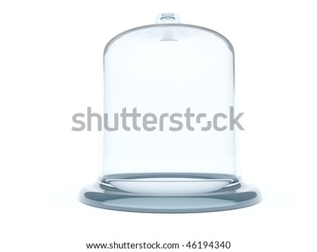 Glass bell isolated on white