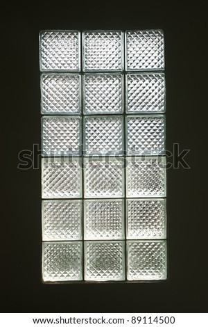 glass block for lighting in the room . - stock photo