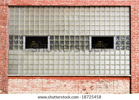 Glass block windows stock photo 18725458 shutterstock for Where to buy glass block windows