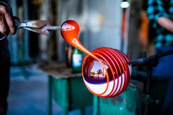 glass blowing and decorating, handmade