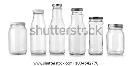 glass bottle isolated on white background #1034642770
