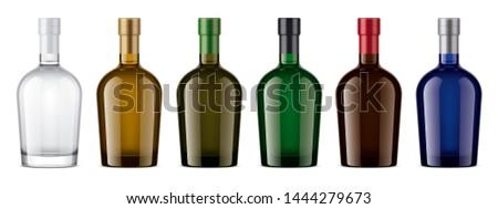 Glass bottle mockup. 3d rendering #1444279673
