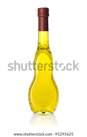 Glass bottle of high quality, natural virgin olive oil. 500ml