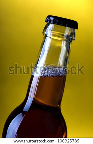 Glass bottle on a background