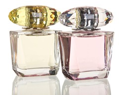 Glass bottle with perfume