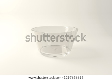 glass bowl isolated on white background 3d illustration