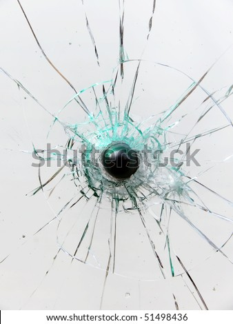 Glass  broken