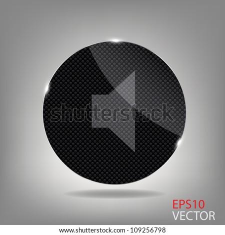 Glass button media icon.   Raster version illustration