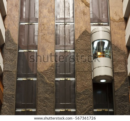 glass capsule elevator with...