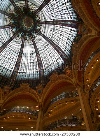 Glass ceiling from lafaette shopping mall