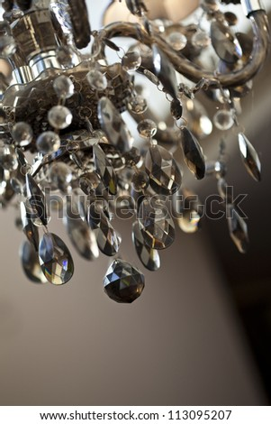 Glass chandelier inside a home