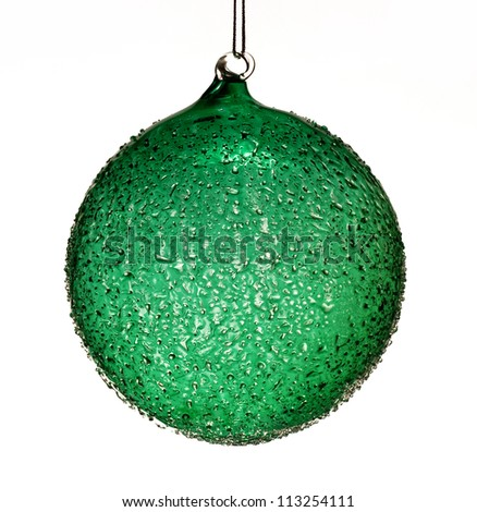 Glass christmas ball isolated on white background