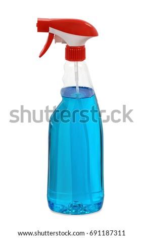 Glass cleaner detergent spray bottle #691187311