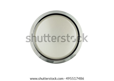 Glass closed jar of facial or body cream on white isolated background with clipping path. Top view.