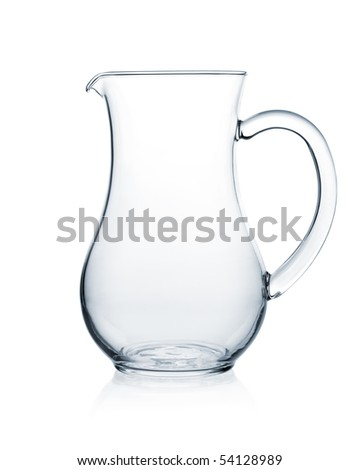 Glass collection - Milk jug. Isolated on white background
