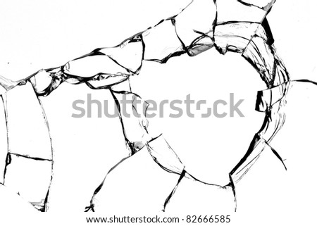 Glass  cracks  broken