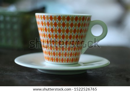 glass cups can be used for drinking tea or coffee Stok fotoğraf ©