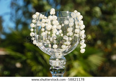 stock photo Glass decorations at a wedding Save to a lightbox