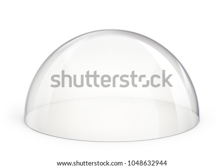 glass dome isolated on a white. 3d illustration