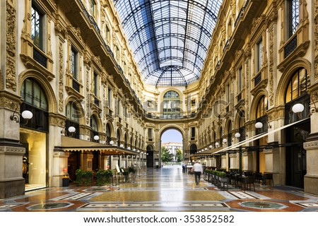 Glass dome of Galleria Vittorio Emanuele in Milan, Italy Foto d'archivio ©
