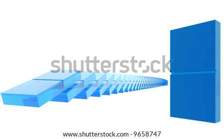 Glass dominoes