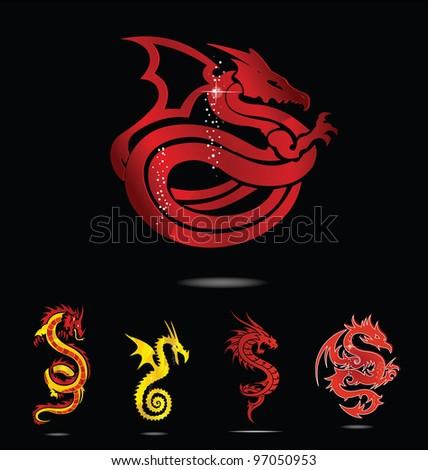 glass dragons set
