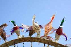 Glass ducks on Murano island, Venice, Italy