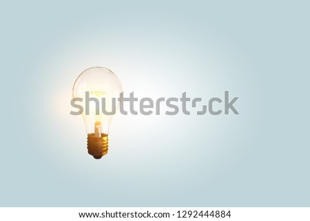 Glass electric bulb . Mixed media