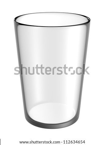 glass empty on white background - stock photo