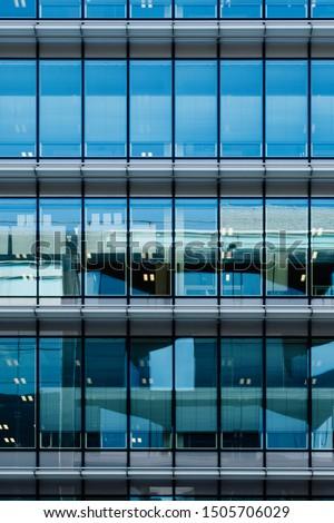 Glass facade of an office building Photo stock ©